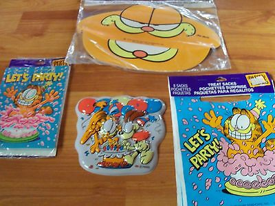 Garfield Birthday Multi-color Party Supplies 5pc Lot Party Express NOS