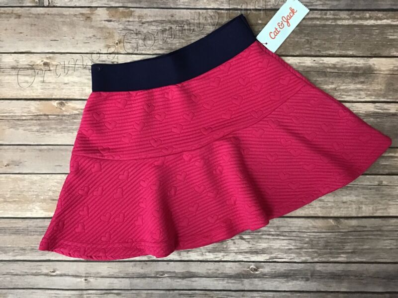 Kids Girls Cat & Jack Pink Skirt Blue XS 4/5, S 6/6X M 7/8, L 12/14, XL 14/16