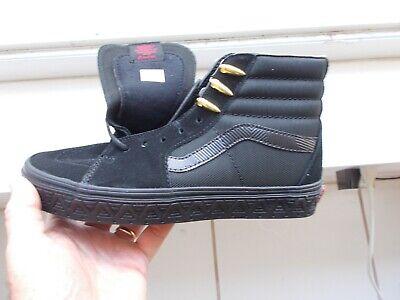 VANS SK8-HI MARVEL BLACK PANTHER  HI TOPS Size 7 BRAND NEW, WITH  BOX