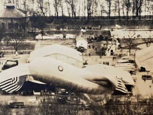 """WW1 Photo 3rd Army Carnival On Rhine Germany April 1919  Panoramic View 36"""" L"""