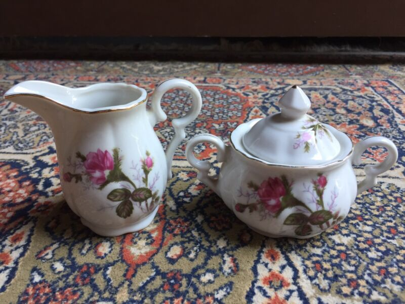 UCAGCO CERAMIC CREAMER AND SUGAR BOWL With LID FROM JAPAN