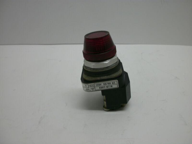 ALLEN BRADLEY 800T-PL16R SERIES T PILOT LIGHT TRANSFORMER RED LED 120V 50/60 HZ