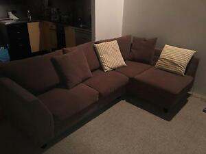 Brown Modular Sofa- Barely used. Moving so sale ASAP Newstead Brisbane North East Preview