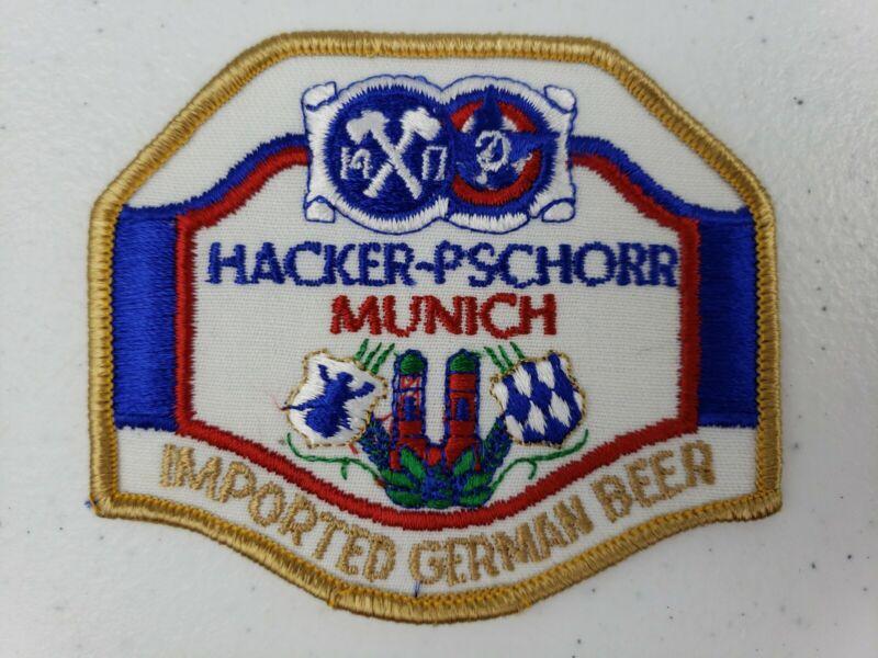 RARE Vintage Hacker Pschorr Munich Imported German Beer Hat Jacket Uniform Patch