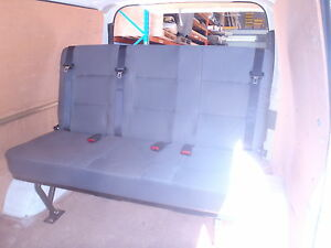 Hiace LWB Van 3 person rear  seat with inbuilt seat belts