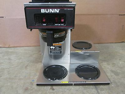 Bunn Vp17-3 H.d. Commercial Nsf Pour-over Coffee Brewer W3 Pot Warmers