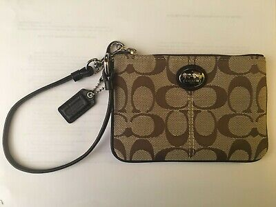 COACH Brown Logo Wristlet (Approx 6 in by 4 in) Never Used