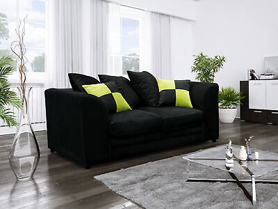 CLEARANCE- CATO- 2 seater OR 2+2 Sofa SET BLACK