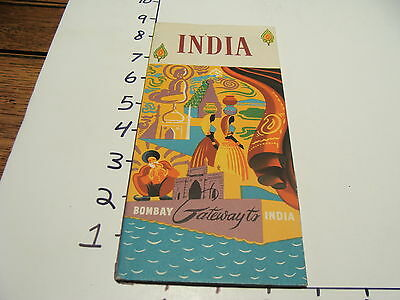 Vintage Tourist paper: INDIA Bombay gateway to India, undated brochure