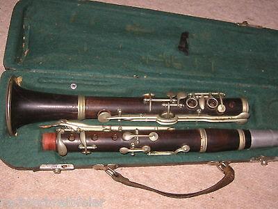 """sehr alte B Klarinette """"G. ADOLF HAMMIG """" deutsches System old clarinet"""