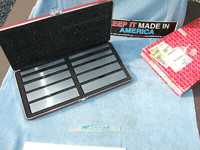 Starrett 384 Parallel Set 12 In Thick Machinist Jig Bore Mill Grind Inspect 2a