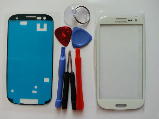 Samsung Galaxy S3 White Genuine Glass Replacement Top Screen Lens Tools+Adhesive
