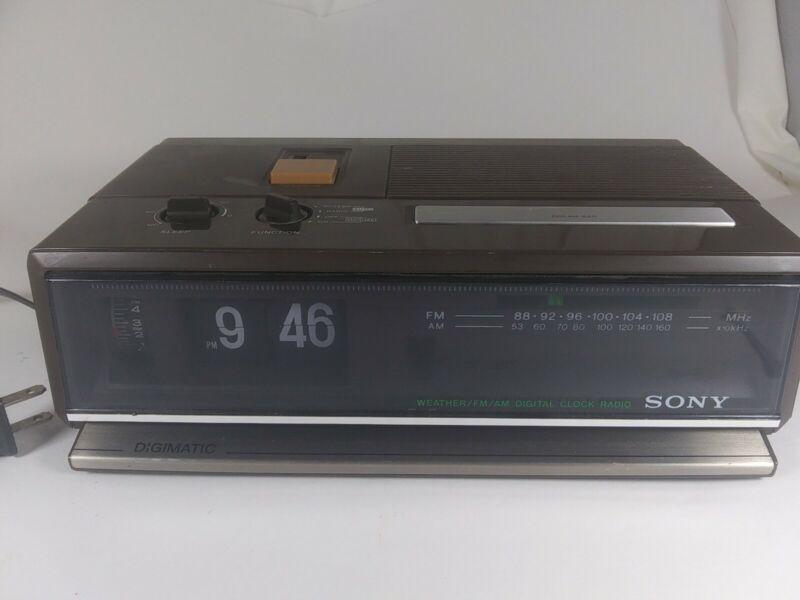 Vintage Sony Digimatic ICF-C411W Weather/FM/AM Digital Clock Radio RARE