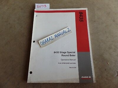 Case 8435 Silage Special Round Baler Operators Manual 6-3150