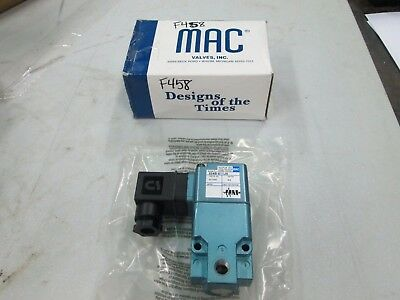 Mac 3-way Solenoid Valve 224b-611ja 18 Fnpt 24 Vdc Nib