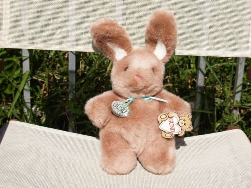 """VINTAGE GUND - BROWN NIBBLES -BUNNY RABBIT -10 1/2"""" - #3434 -1989 -NEW-ALL TAGS"""