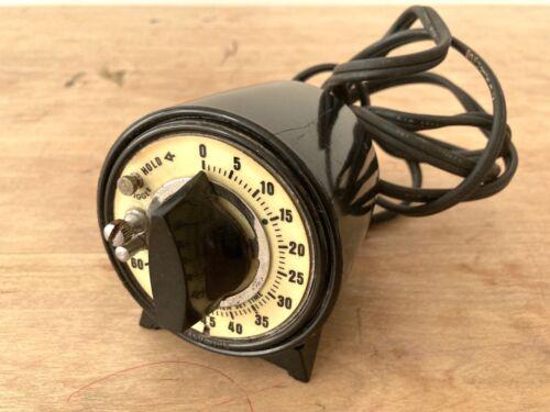Vintage Darkroom Timer M H Rhodes Avon Conn USA w/ Luminescent Dial 78100 Series