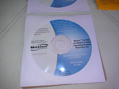 - Microsoft Windows XP Drivers Utilities Recovery 4 Motion Computing LE1600 LS800