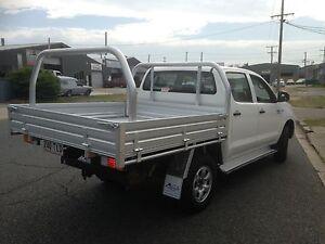 Dual Cab Alloy Tray 1880L x 1855W x 880H