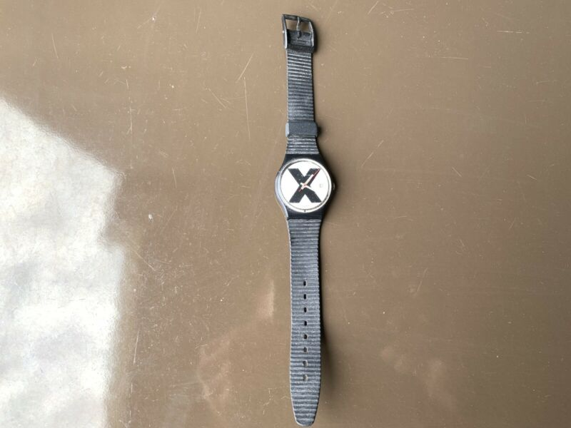 X Rated Edge Swatch Watch MID CENTURY Modern Memphis Postmodern EAMES ERA