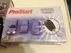 Prostart LCD Remote Starter and Keyless Entry Remote. New