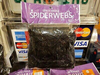 1x Bag Stretchable BLACK Spider Web Halloween Webbing Cobweb Prop FREE SHIPPING](Spider Web Decorations)