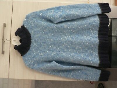 Pull mohair tricot   taille 40/42 col roule hiver ski