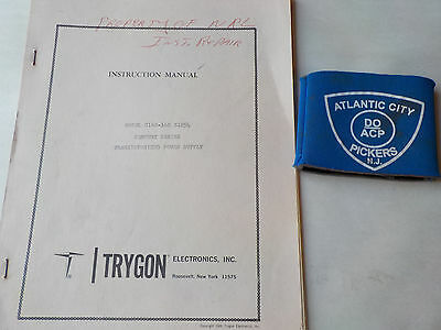 Trygon Model C160-16c S1054 Power Supply Instruction Manual