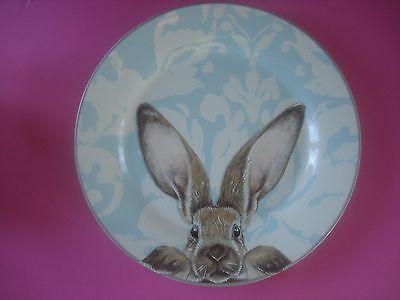 Williams Sonoma Bunny Damask Dinner Plate