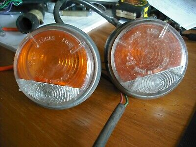 2 Morris Minor Indicator wing fittings + 5 Chrome/Plastic covers.