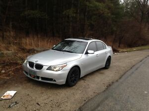 BMW 545i 6 speed sport