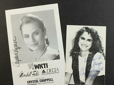 LOT Of TWO SOAP OPERA ACTRESS CRYSTAL CHAPPELL AUTOGRAPH PHOTOS  - $2.77