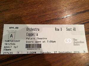 Orchestra Coppelia Palais Theatre 1 X Ticket Fitzroy Yarra Area Preview