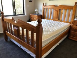 Queen Bed plus frame in excellent cond (excl bedside tables)