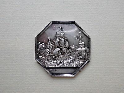 Frankreich, Schifffahrt, Comptoir Maritime, Silber - Medaille 1857 #MX016