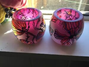 Hand painted tea light holders Bentleigh Glen Eira Area Preview