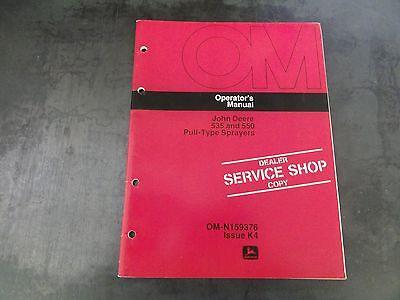John Deere 535 And 550 Pull-type Spayers Operators Manual  Om-n159376 Issue K4