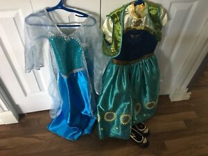 Size 5/6 Elsa and Anna Disney Princess Dresses