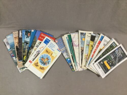 Lot 25 Vintage Maps 1964 to 2003, USA & Europe, all Used