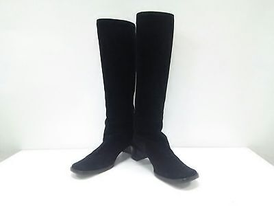 Auth GUCCI Black Suede Boots Women