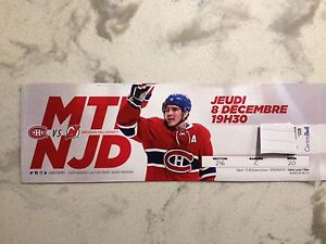 Habs vs New Jersey devils billet: jeudi 8 Dec