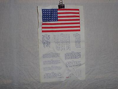 flag411 Koran war era  US Military Blood Chit  R2B