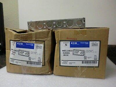 Qty Lot 10 New Eaton Crouse-hinds Tp631 4 Gang Box 665361