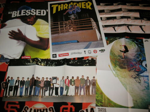 """Thrasher Poster Lot, Tyshawn Jones, Supreme """"blessed"""", SOTY, Nike, Louie Lopez"""