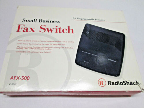 Radio Shack Small Business Fax Switch Model AFX-500 CAT NO.43-1247