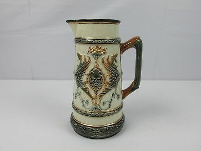 Antique Late 1800s RORSTRAND Pitcher Scandinavian Pottery RARE COLLECTIBLE PIECE