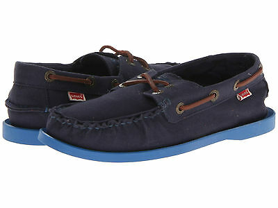 New Mens Levis Shoes Parker Energy   Navy Royal   Size 10