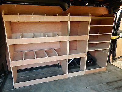Ford Transit Custom L1 (SWB) Plywood racking,shelving,Storage 2013 On-ward