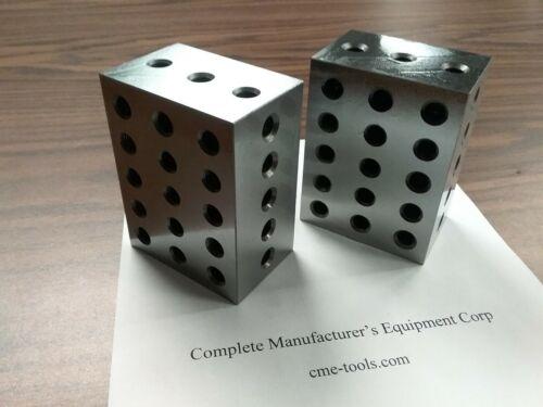 "2-4-6"" precision block pair 23 hole set up block pair 0.0002"" #701-246 -new"