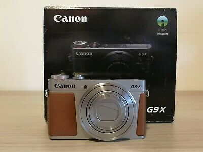 Canon PowerShot G9 X 20MP Digital Camera - Silver - Boxed with Accessories